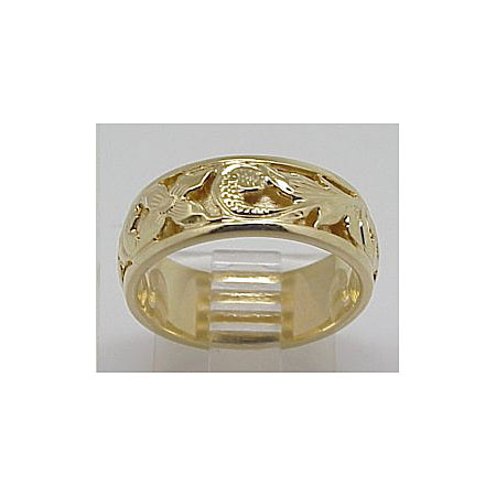 14k Gold Deluxe Sweetheart Hawaiian Ring