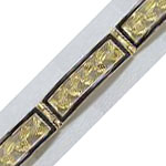 14k Gold Maile Link Hawaiian Bracelet with Black Enamel Border 21.6g