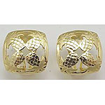 14k Gold Quilt Earrings 5.9g