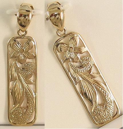 14k gold sweetheart hawaiian pendant 14k gold hawaiian pendants 14k gold sweetheart hawaiian pendant aloadofball Image collections