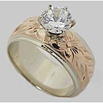 14k Gold Hawaiian Heirloom Two-tone Ring