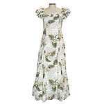 Orchid Palms 2 Women's Ruffle Shoulder Dress