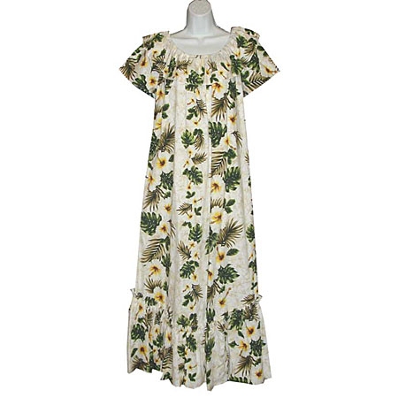 Short Sleeve Long Hawaiian Muumuu