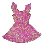 Girls Ruffle Neck Hawaiian Dress