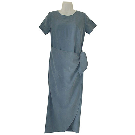 Blue Palms Silk Sarong Dress