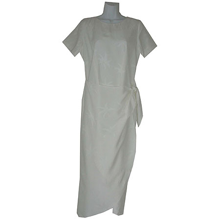 Ivory Palms Silk Sarong Dress