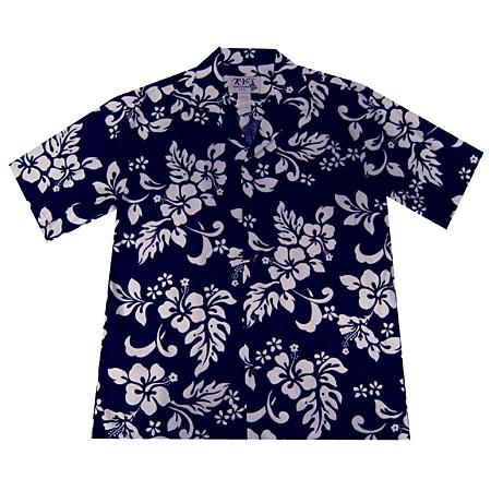 3b4ea6fae16ee Hibiscus Print Men s Hawaiian Shirt