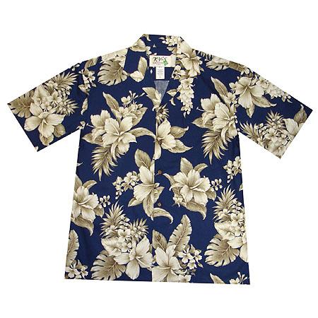 47162a412e830 Hibiscus Floral Men s Hawaiian Shirt