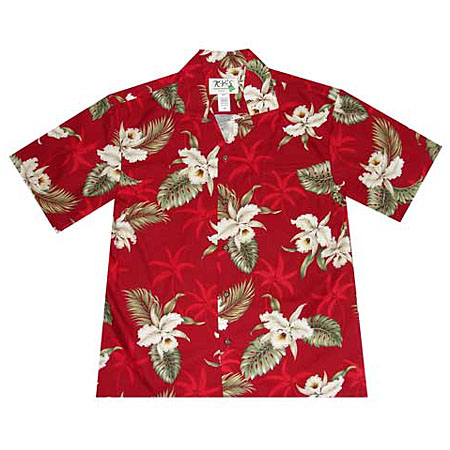Orchid Palms 2 Boys Hawaiian Shirt