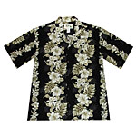Hibiscus Orchid Palms Panel Men's Hawaiian Shirt