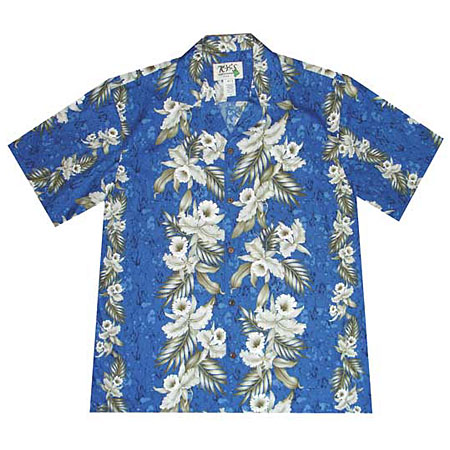 Orchid Panel 2 Men's Hawaiian Shirt