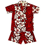Hibiscus Panel Boys Toddler Cabana Set