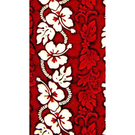 Hibiscus Panel 100% Cotton Poplin Hawaiian Fabric