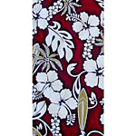 Hibiscus Plumeria Surfboard 100% Cotton Poplin Hawaiian Fabric