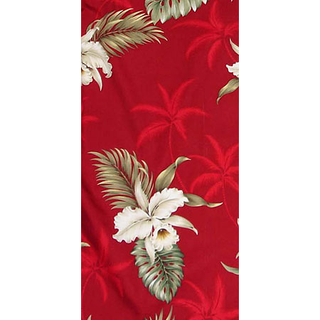 Orchid Palms 2 100% Cotton Poplin Hawaiian Fabric