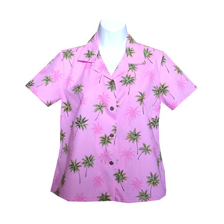 Women's Fitted Hawaiian Blouse