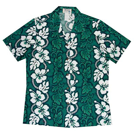 Hibiscus Panel Women's Hawaiian Blouse