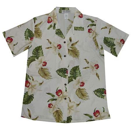 Red Orchid Women's Hawaiian Blouse