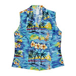 Sunset Sailing Womens Sleeveless Hawaiian Blouse