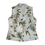 Womens Sleeveless Hawaiian Blouse