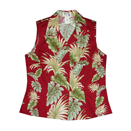 Womens Sleeveless Hawaiian Blouses 25