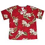 Orchid Palms 2 Aloha Medical Scrub Shirt