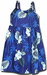 Hibiscus Palms Girls Toddler Bungee Dress