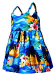 Tropical Sunset Girls Toddler Bungee Dress