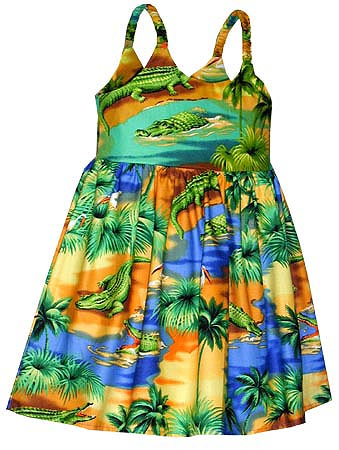 e4e88c5c Alligator Lagoon Girls Toddler Bungee Dress, Toddler Girls Bungee Hawaiian  Dresses
