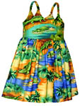 Alligator Lagoon Girls Toddler Bungee Dress