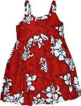 Hibiscus Floral Print Girls Toddler Bungee Dress