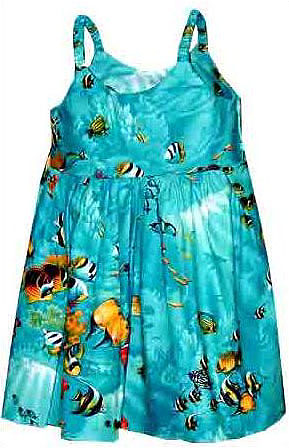 Tropical Reef Girls Toddler Bungee Dress