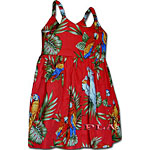 Parrot and Macaw Girls Toddler Bungee Dress