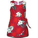 Hibiscus Palms Girls Sarong Dress