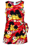 Tropical Sunset Girls Sarong Dress