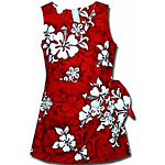 Hibiscus Floral Print Girls Sarong Dress