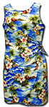 Tropical Diamond Head Girls Sarong Dress