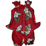 Hibiscus Palms Baby Girls Cabana Set
