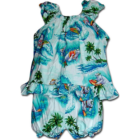 Surf Animals Baby Girls Cabana Set