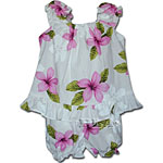 Plumeria Flower Baby Girls Cabana Set