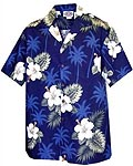 Hibiscus Palms Boys Hawaiian Shirt