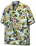 Tropical Diamond Head Boys Hawaiian Shirt