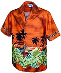 Island Chopper Boys Hawaiian Border Shirt