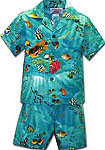 Tropical Reef Boys Toddler Cabana Set