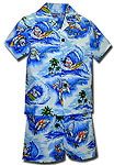Surf Animals Boys Toddler Cabana Set