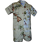 Islands Hibiscus Palm Tree Boys Toddler Cabana Set