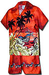 Island Chopper Boys Toddler Hawaiian Border Cabana Set