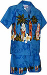 Surfboard Floral Boys Toddler Hawaiian Chest Cabana Set