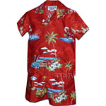 Boys Toddler Hawaiian Chest Cabana Set
