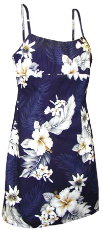 Hibiscus Floral Short Spaghetti Strap Dress